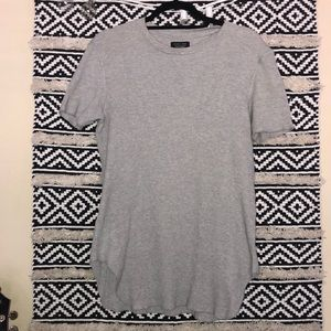 Zara man grey scallop t-shirt